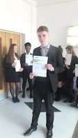 Jake Henderson receives Gold Medal LAMDA certificate with Distinction